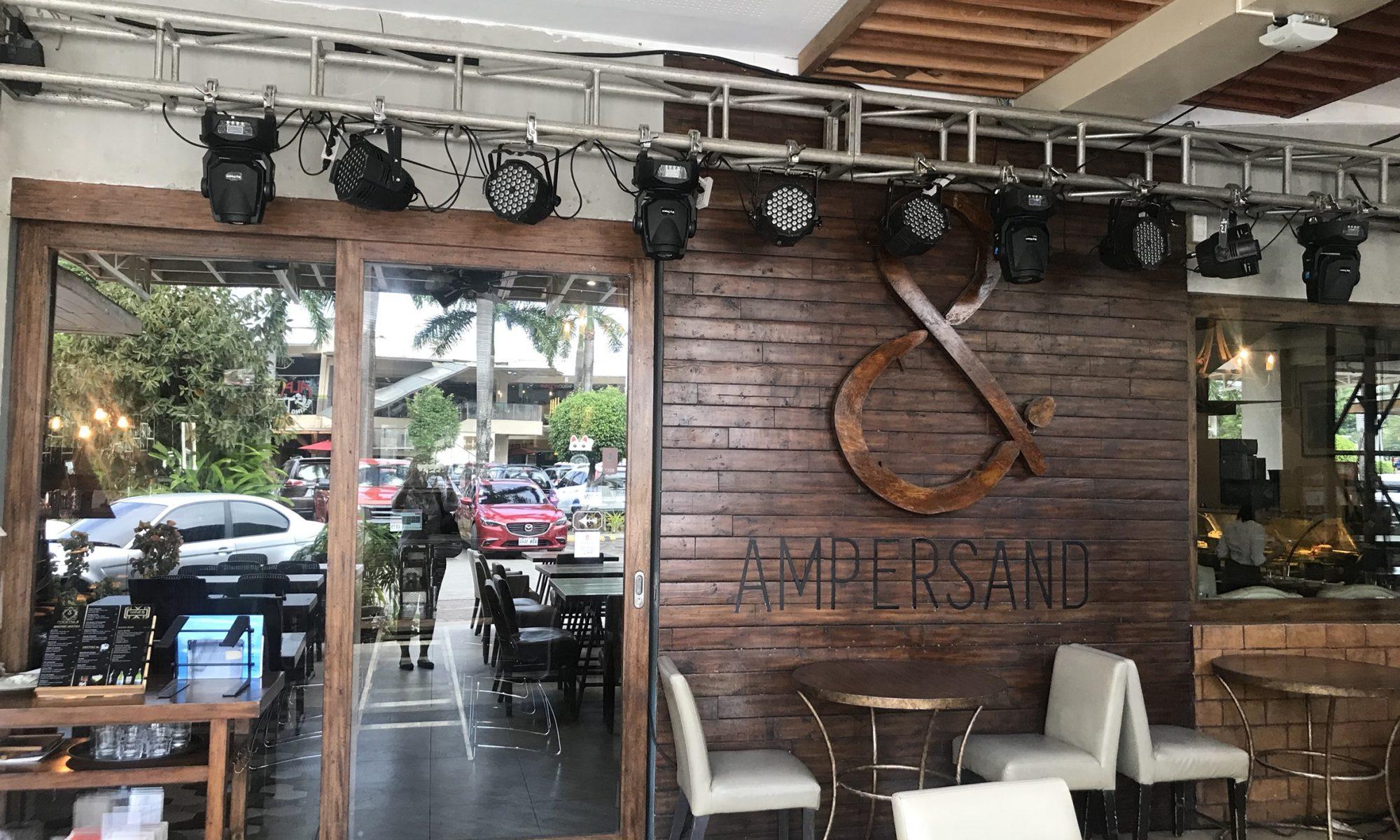 お洒落なオススメレストラン「AMPEWRSAND」