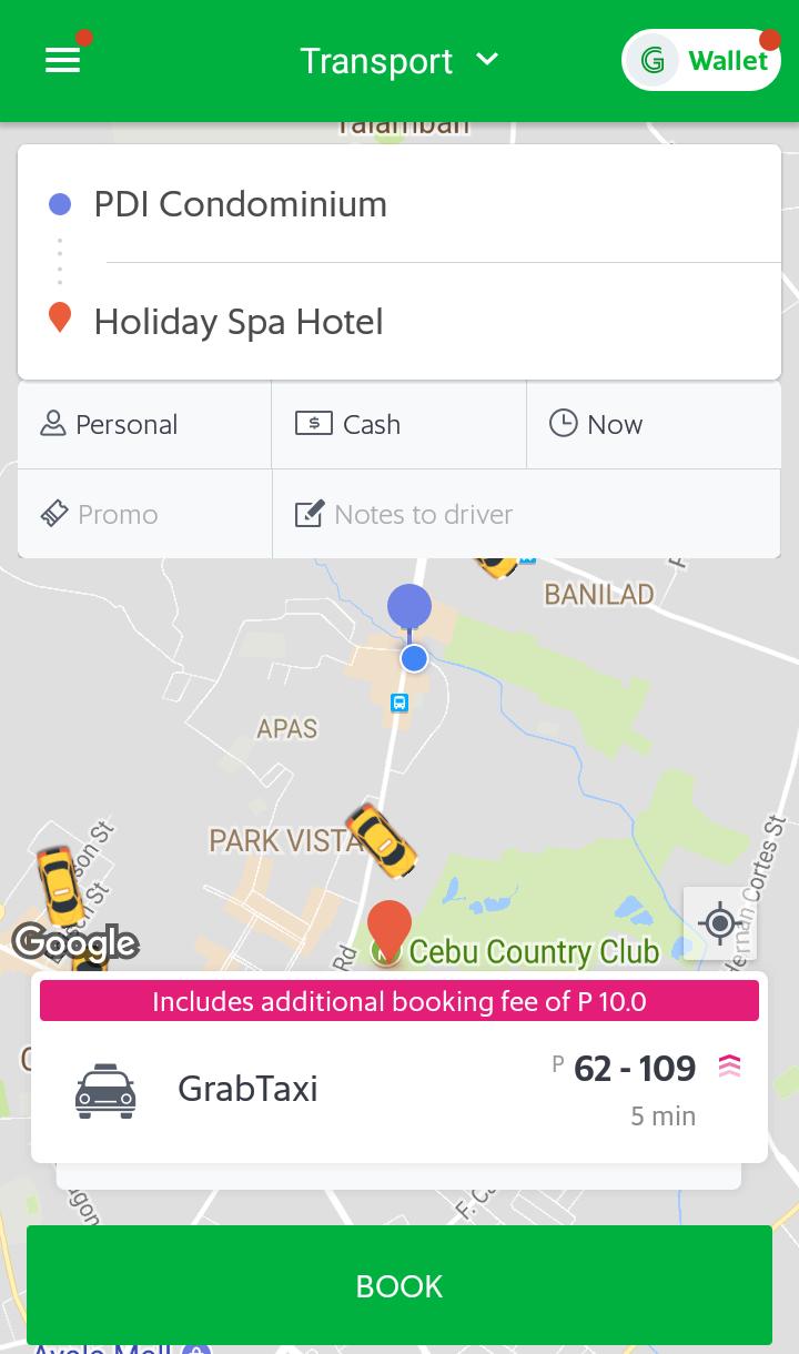 セブ留学生活でタクシーを使うなら安心、安全な「Grabタクシー」