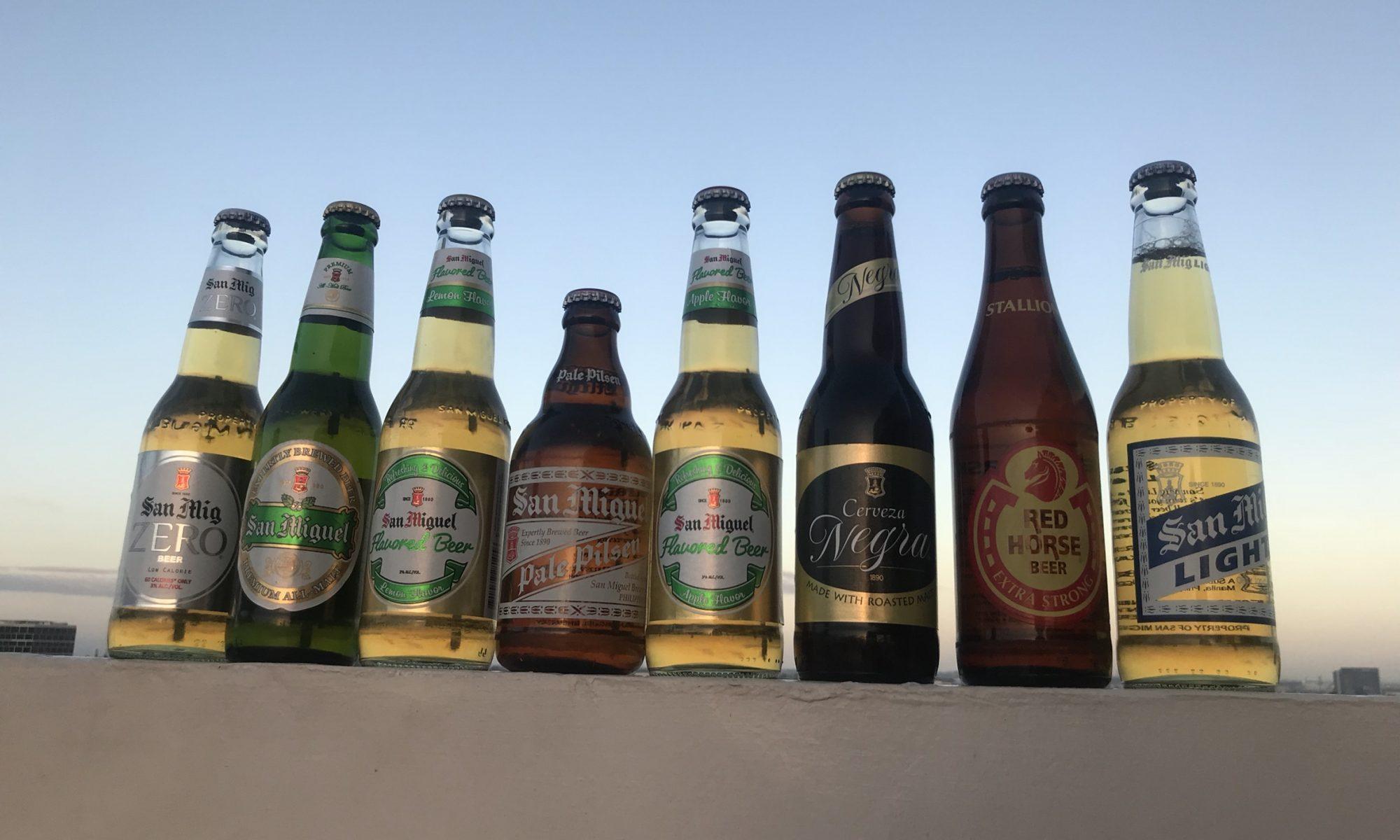 フィリピン産ビール「サンミゲル」を飲み比べ!